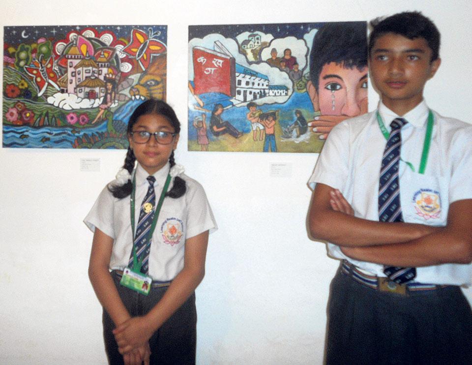 Exhibiting student's art at SAG