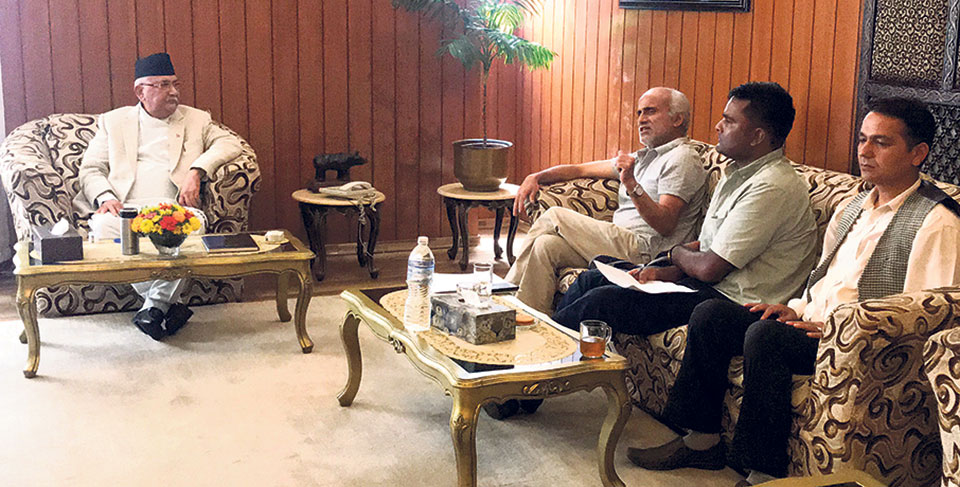PM Oli proposes inspection committee to implement agreements with Dr KC