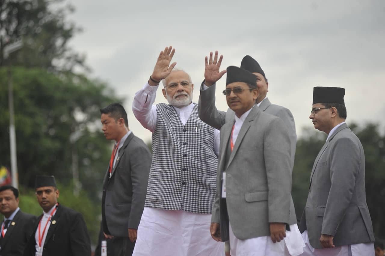 Indian PM Modi arrives in Kathmandu for BIMSTEC (with photos)