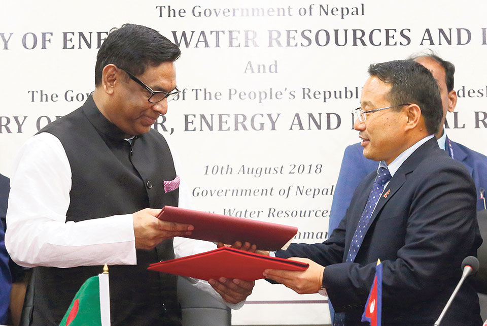 Nepal, Bangladesh ink energy cooperation deal