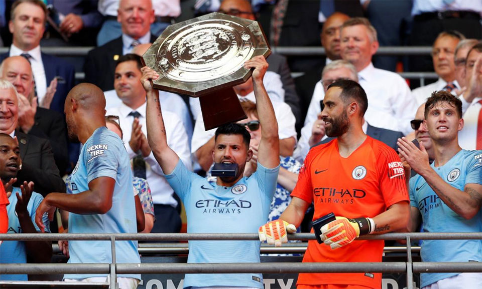 Aguero hits 200th City goal in Wembley stroll past Chelsea