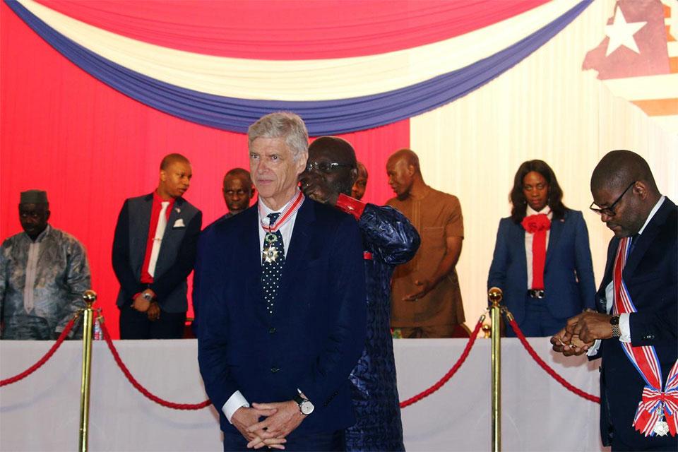 Former Arsenal manager Wenger receives Liberia's highest honour