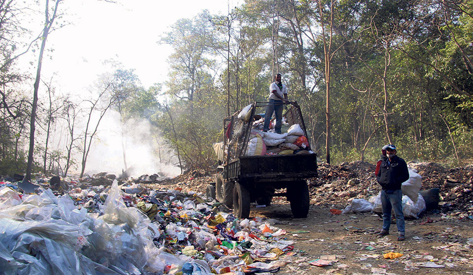Dharan and Itahari dumping waste recklessly