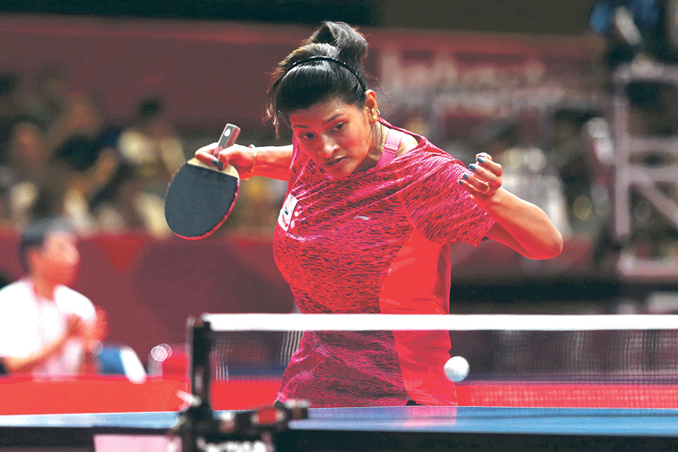 Shrestha presents mixed result in table tennis