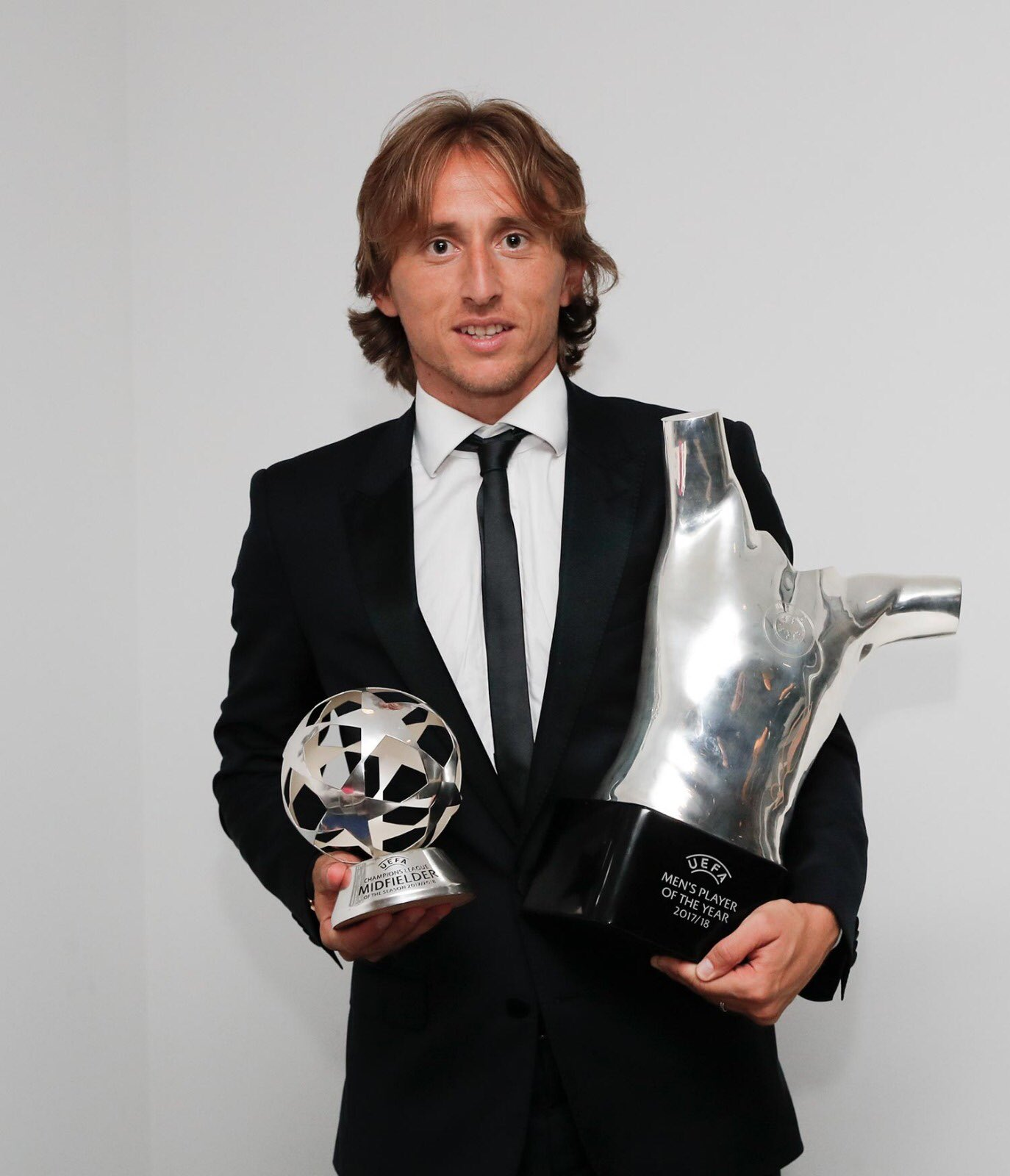 Luka Modric wins UEFA Player of the Year award