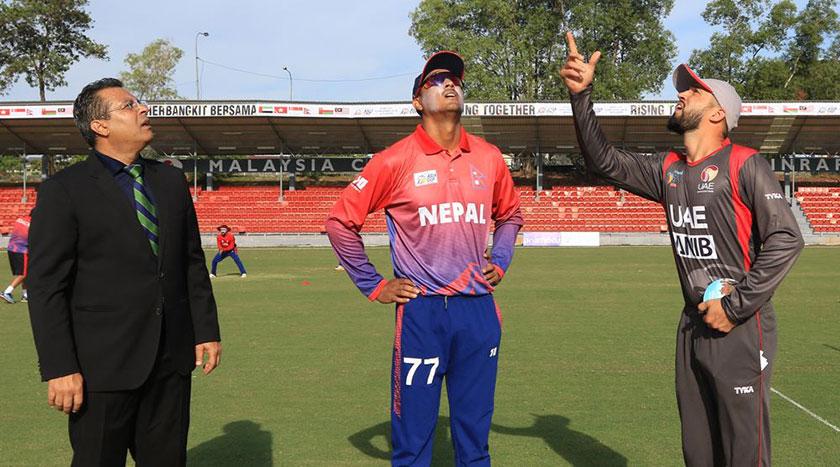 Nepal lost against UAE by 78 run