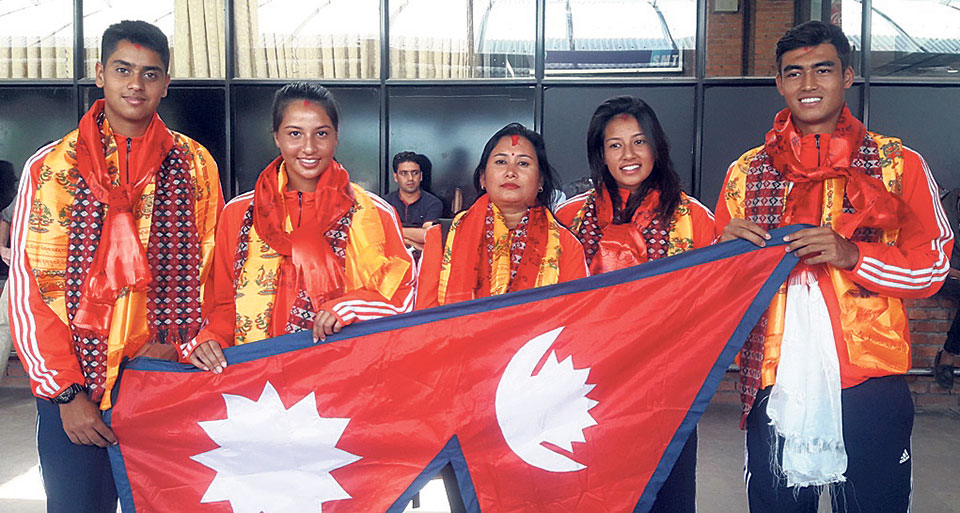 Nepal lawn tennis team leaves for Malaysia