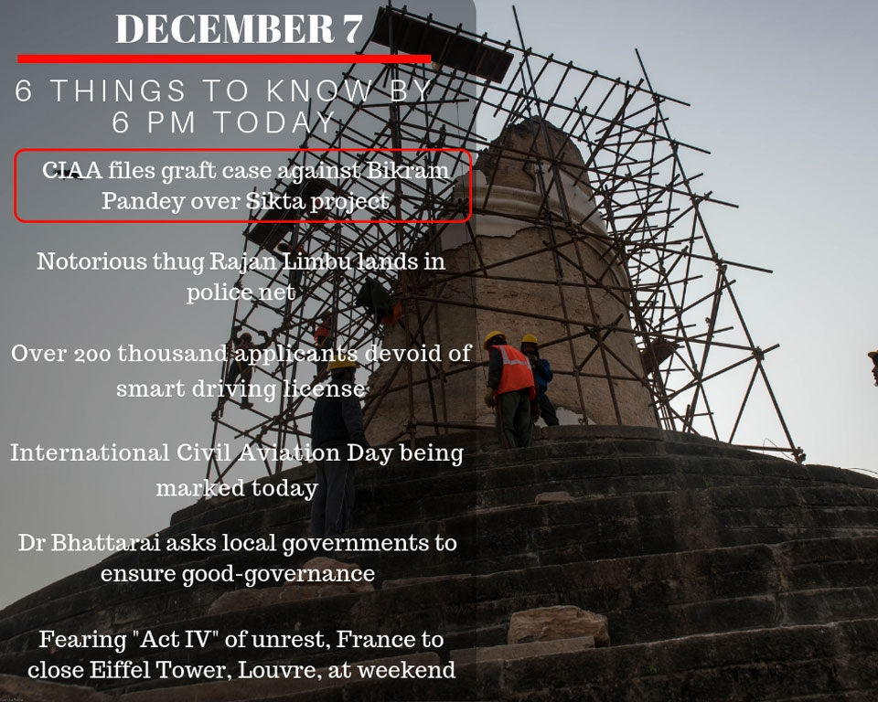 Dec 7: 6 things to know by 6 PM today
