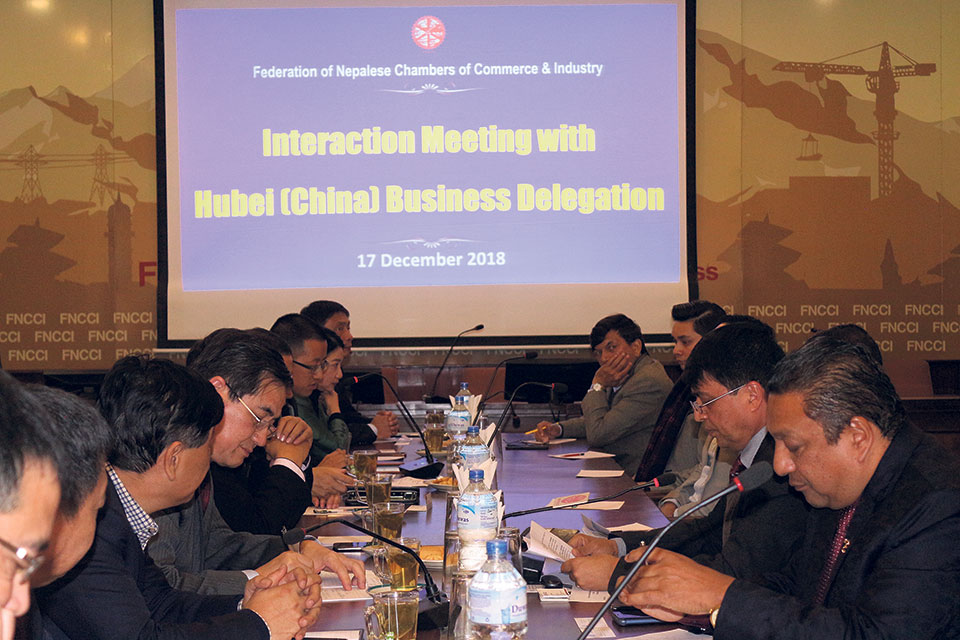 'Hubei province of China willing to invest in Nepal'