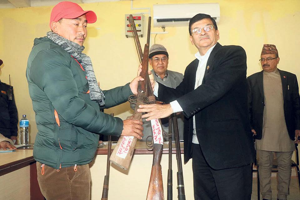 Khumbuwan Mukti Morcha surrenders arms