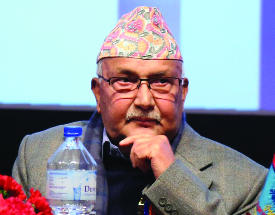 Oli criticized in party over poor govt performance