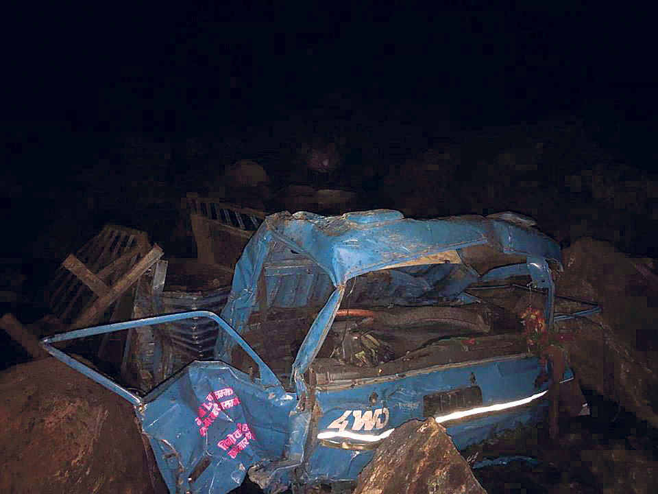 (Update) Death toll in Nuwakot mini-truck crash climbs to 20