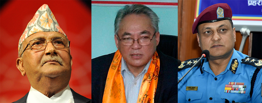 NA fugitive files case against PM Oli and Dahal