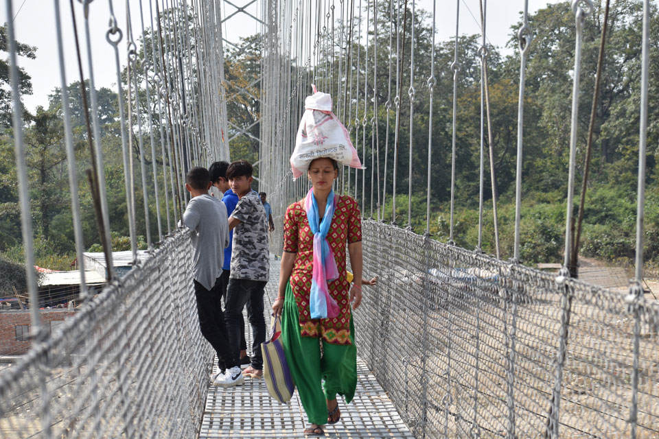 A suspension bridge gives new lease of life to over 15 villages