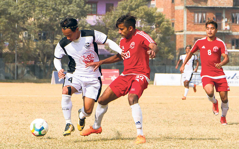 Late goal sees Sankata go joint-top; Police, Himalayan share spoils in draw