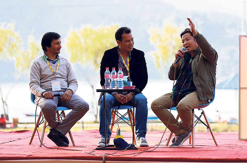 Glances of IME Nepal Literature Festival Press