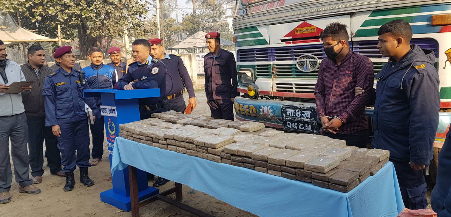 Police seize 160 kg of hashish
