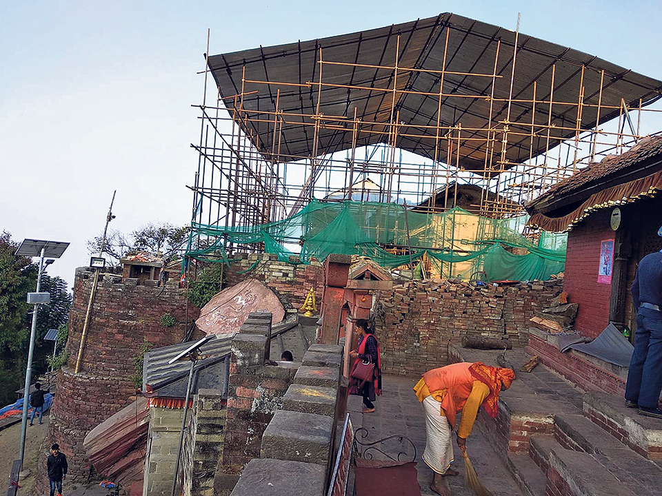 Stalled reconstruction of Gorkha Durbar disappoints students, pilgrims