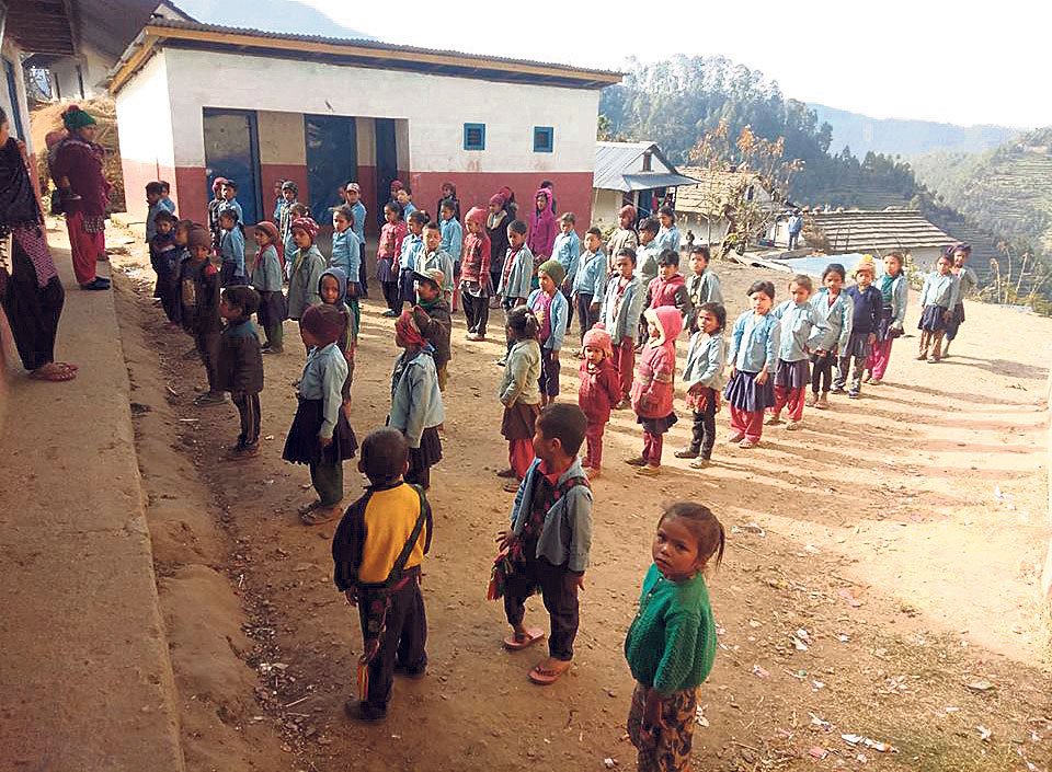 School dropout rate high in Rolpa