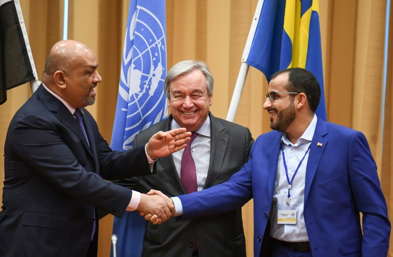 Yemen's warring parties agree ceasefire for key port at UN talks