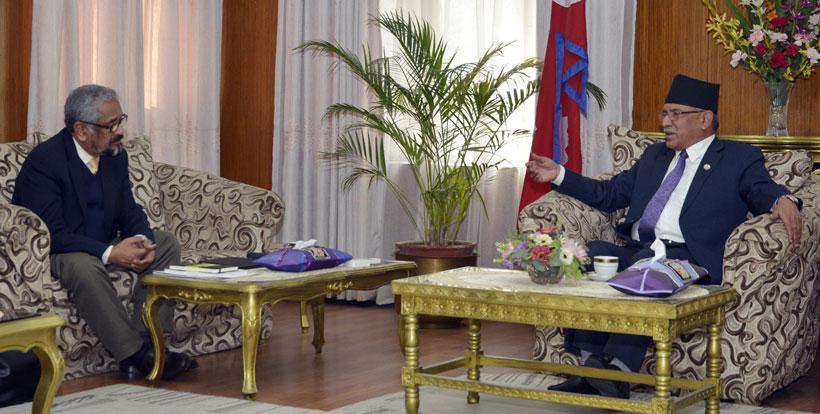 Mauritius  former President Uteem calls on PM Dahal