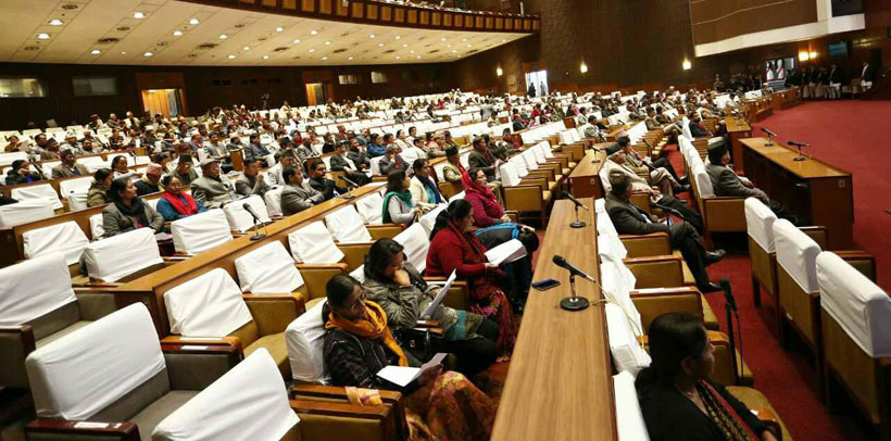 House lack of quorum after resuming business