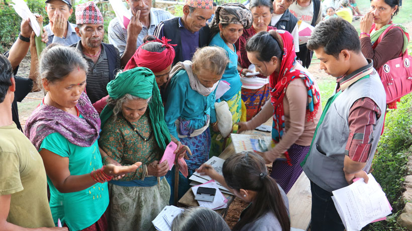 Cash transfers in Nepal earthquake response