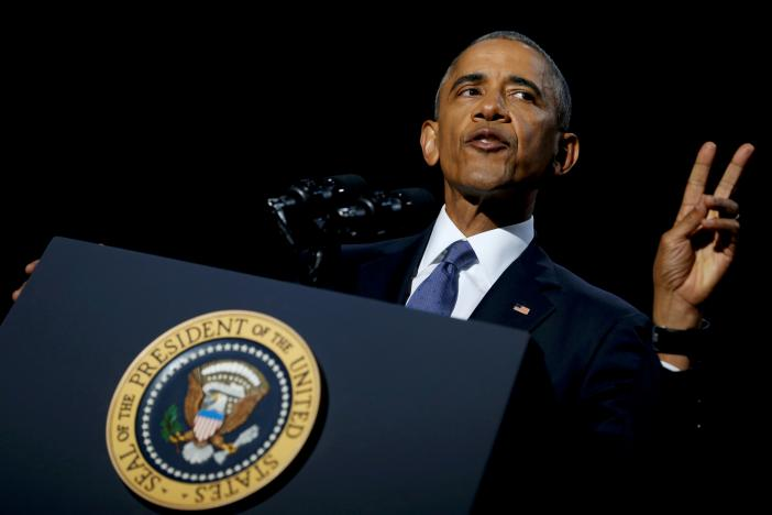 In final address, Obama touts values and prods Trump (with video)
