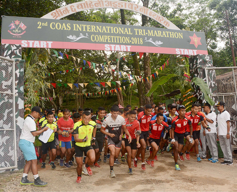 Tribhuvan Army Club Team A wins 2nd CoAS Int'l Tri-Marathon title