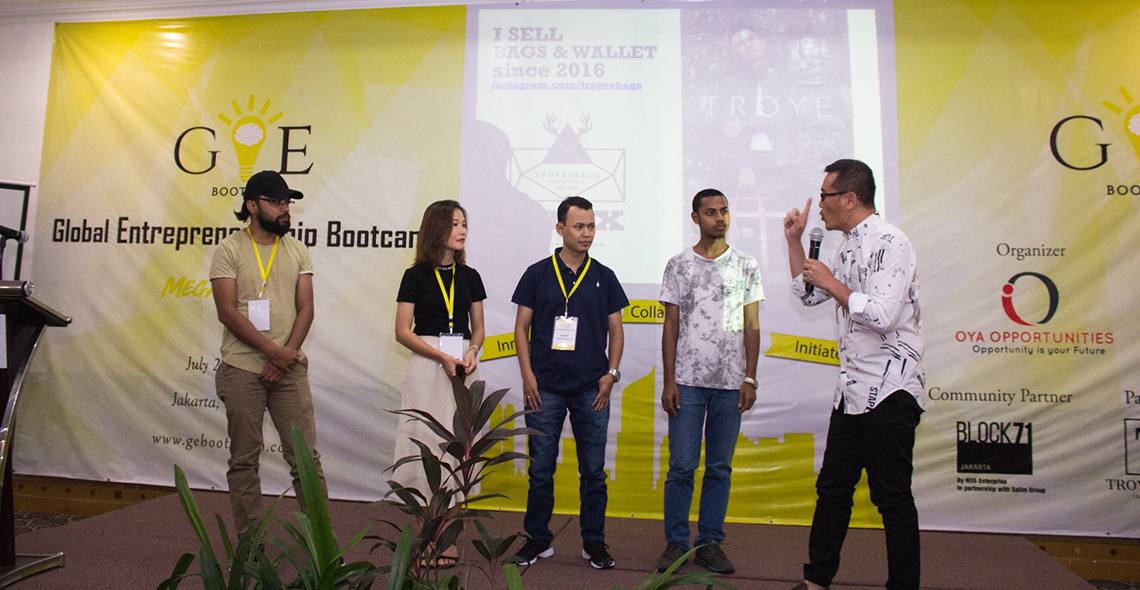 Global Entrepreneurship Bootcamp held in Jakarta