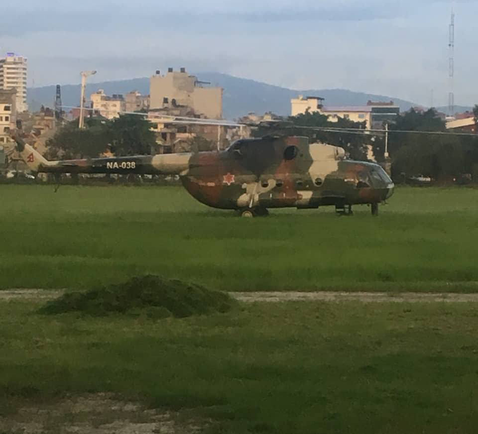 Chopper carrying Dr KC landed at Tudikhel; rushed to Teaching Hospital (Updated)