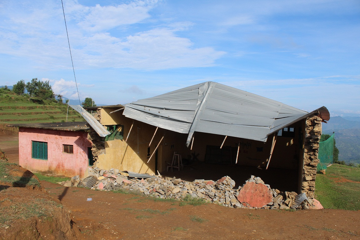 Only covered hall of Dadeldhura damaged