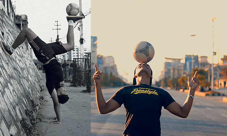 Freestyle football: Bend it more than Beckham