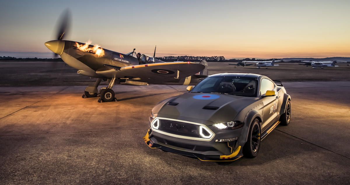 Ford Mustang celebrates the 100th anniversary of the RAF
