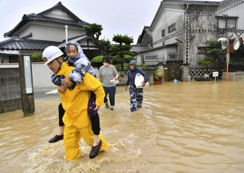 Death toll climbs to 54 as heavy rain hammers southern Japan