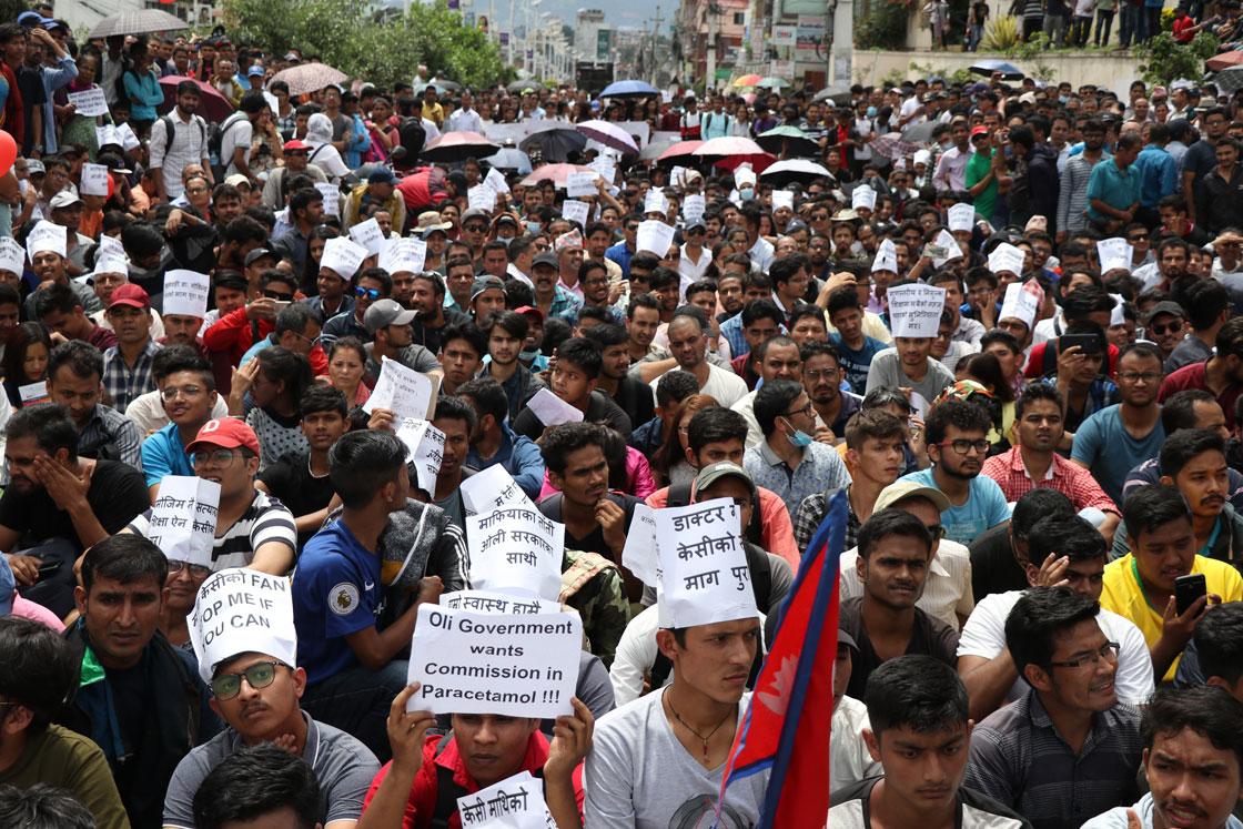 Dozens including 11 police injured in protests over Dr KC's demands