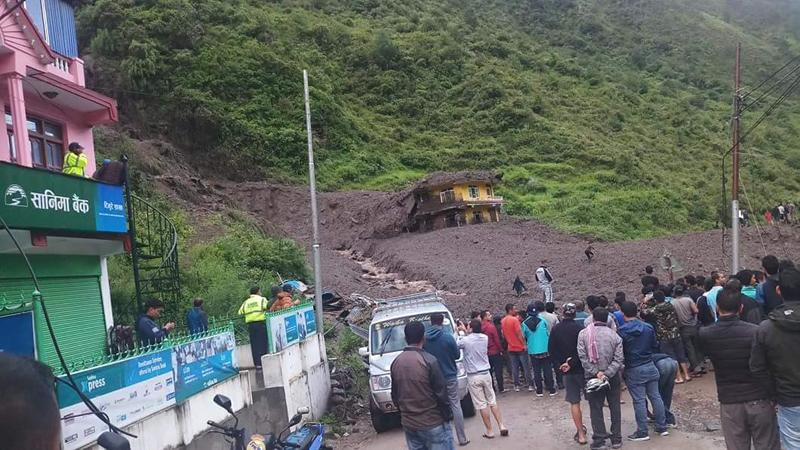 1 dies, 8 missing in Rasuwa landslide
