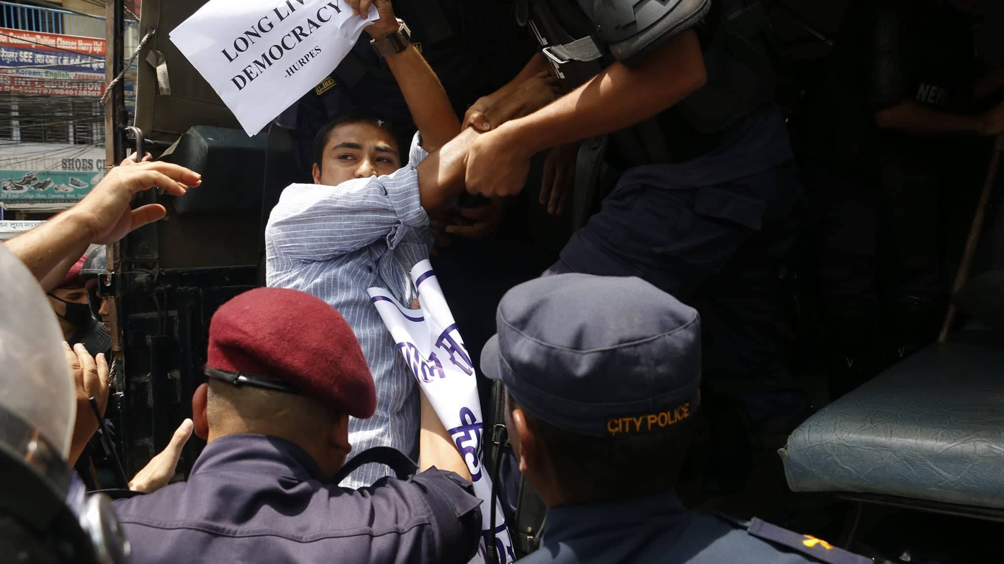 (IN PICTURES) More than two dozen rights' activists arrested