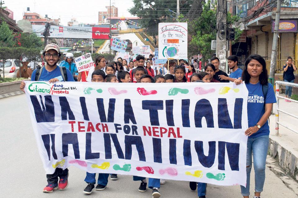 Walkathon for education inequality awareness
