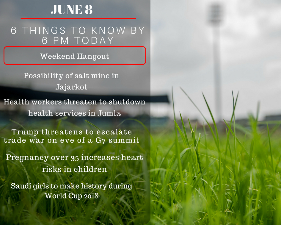 June 8: Six things to know by 6 PM today