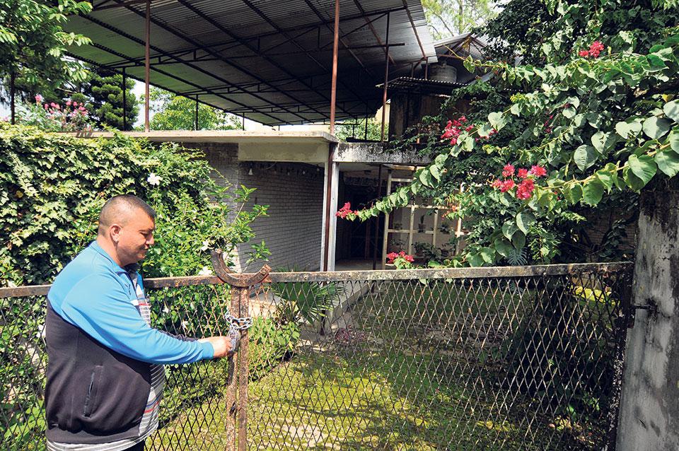 Nepal Trust locks former palace employee's house