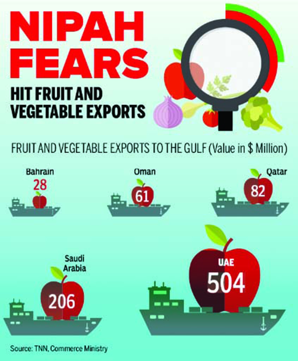 Infographics: India's fruit & vegetable exports face threat following Nipah