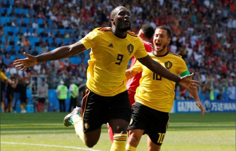 Two each for Hazard and Lukaku as Belgium thump Tunisia 5-2