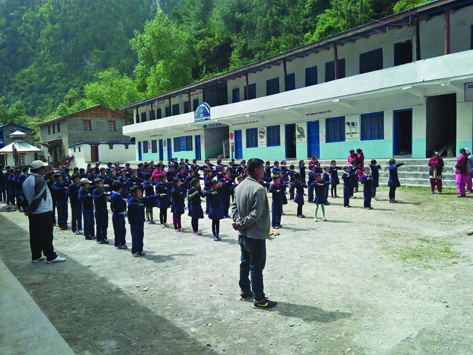 A boarding school becomes a boon for children in Manang