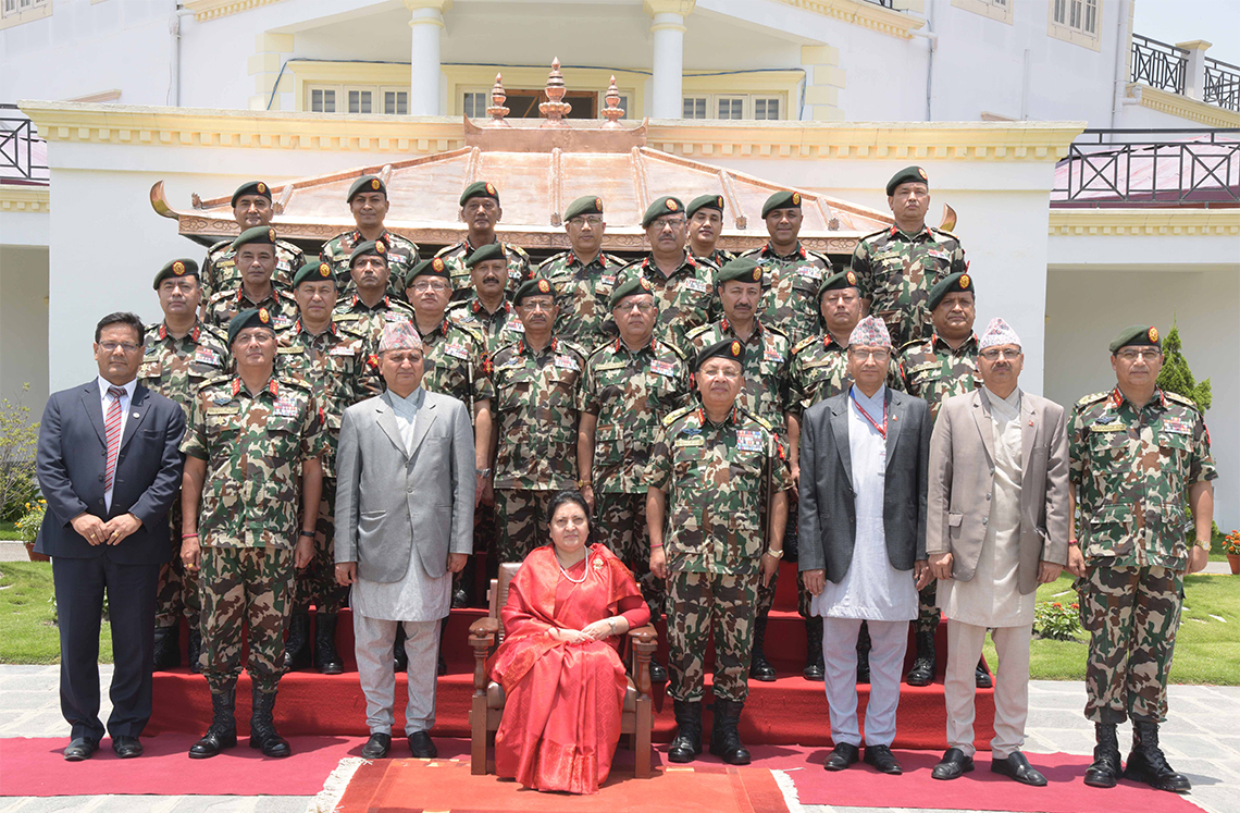 Prez Bhandari visits NA headquarters