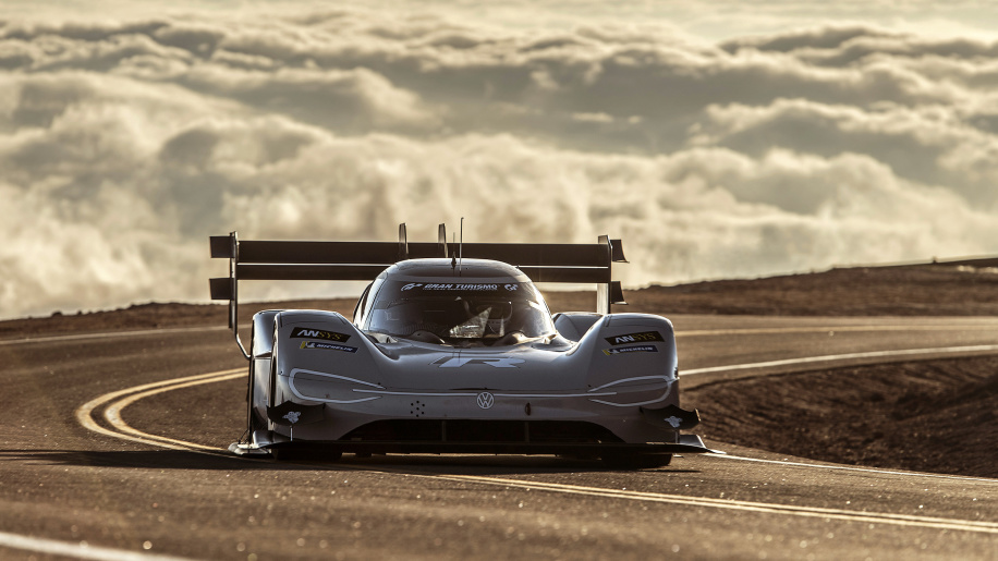 Volkswagen's all-electric race car conquers Pikes Peak hill climb in record time