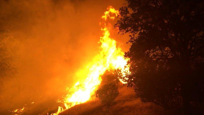 California wildfires destroy buildings, force evacuations