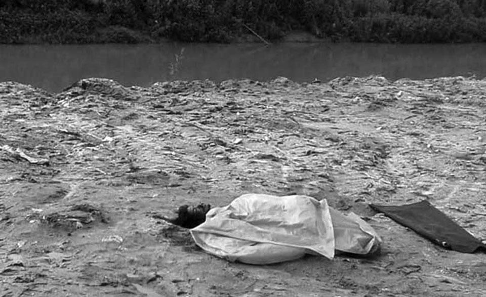 Dead body found at Makalbari river bank