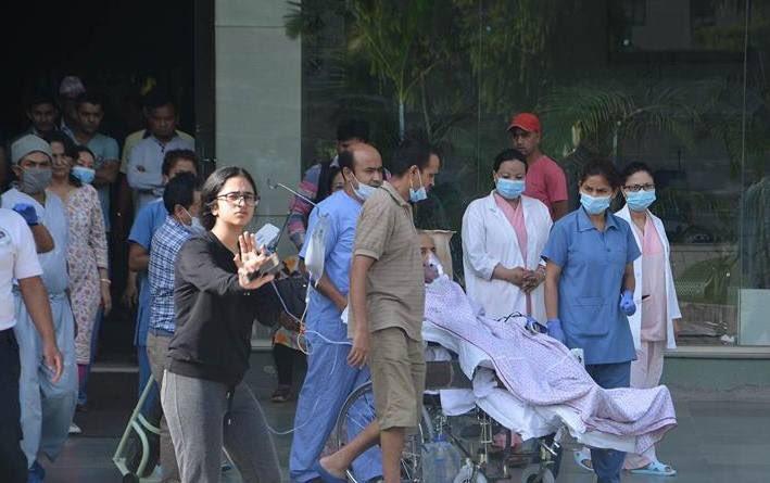Dr. Upendra Devkota flies to hometown