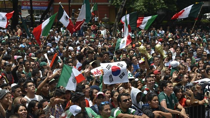'Brother, now you're Mexican!:' Mexico fans party outside South Korean embassy